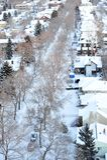 miasta sceny zima Obrazy Royalty Free