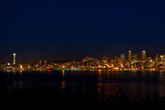 miasta Seattle linia horyzontu obraz royalty free