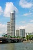 miasta Singapore linia horyzontu turystyka Zdjęcia Stock