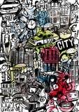 Miasta Stylowy tło royalty ilustracja