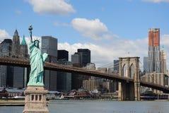 miasta swobody nowa linia horyzontu statua York Zdjęcia Royalty Free
