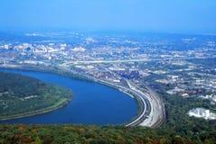 miasta szczyt górski widok Obraz Stock