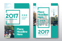 Miasta tła Książkowej pokrywy projekta Biznesowy szablon w A4 Obraz Royalty Free