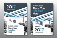 Miasta tła Książkowej pokrywy projekta Biznesowy szablon w A4 Zdjęcia Royalty Free