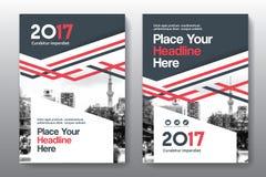 Miasta tła Książkowej pokrywy projekta Biznesowy szablon w A4 Fotografia Royalty Free
