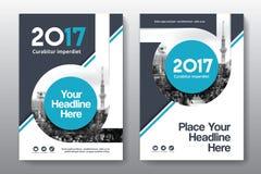 Miasta tła Książkowej pokrywy projekta Biznesowy szablon w A4 Obraz Stock