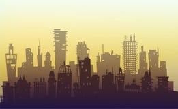 Miasta tło robić wiele budynek sylwetki ilustracji