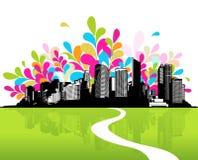 miasta trawy zieleń royalty ilustracja