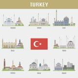 Miasta Turcja royalty ilustracja
