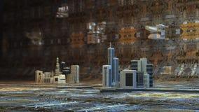 Miasta układ scalony Obrazy Stock