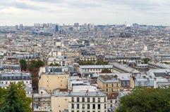 miasta wyraźnie dziennego obrończego Eiffel eustace France grande Halles Los angeles Le Les montparnasse palais Paris linia horyz Zdjęcie Royalty Free