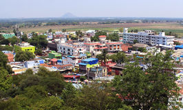 Miasta wzgórza widok Zdjęcia Stock
