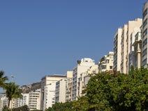 Miasta z specjalnymi architekturami Copacabana plaża, Rio De Janeiro Brazylia obraz stock