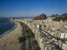 Miasta z specjalnymi architekturami Copacabana plaża, Rio De Janeiro Brazylia zdjęcie royalty free