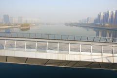 Miasta zanieczyszczenie powietrza Obrazy Royalty Free