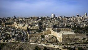 miasta zewnętrznie Jerusalem minaretowa stara ściana zdjęcia stock