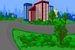 miasta zieleni krajobraz Zdjęcie Stock