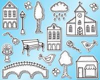 Miasteczka lub miasta projekta elementy Obrazy Royalty Free