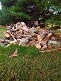 Miasteczka życie - woodpile Fotografia Royalty Free