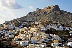 Miasteczko Agia Marina w Leros wyspie Obraz Stock