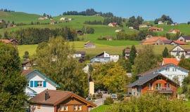 Miasteczko Appenzell w Szwajcaria w jesieni Fotografia Royalty Free