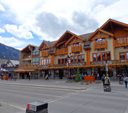 Miasteczko Banff w wczesnym poranku obraz stock