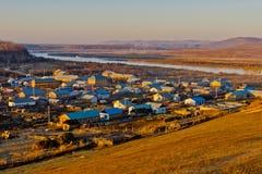Miasteczko chińsko-rosyjska granica Fotografia Stock