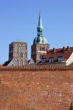 Miasteczko ścienny Stralsund Obraz Royalty Free