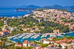 Miasteczko Dubrovnik Babina Kuk i archipelagu widok Obraz Royalty Free