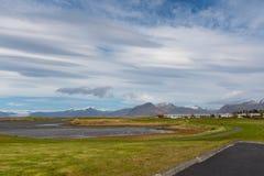 Miasteczko Hofn w południowo-wschodni Iceland Zdjęcie Stock