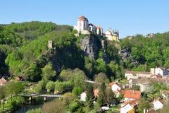 Miasteczko i grodowy Vranov nad w Republika Czech Dyji fotografia royalty free