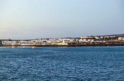 Miasteczko i schronienie Playa Blanca Obrazy Royalty Free