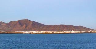 Miasteczko i schronienie Playa Blanca Obrazy Stock