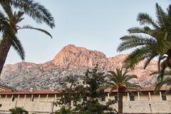 Miasteczko Kotor starego miasta miasto stara ściany Widok Górski Montenegro fotografia royalty free