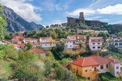 Miasteczko Kruje w Albania Zdjęcia Royalty Free
