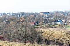 Miasteczko panoramiczny widok od above w jesieni obraz royalty free