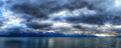 Miasteczko port w ketchikan Alaska Zdjęcie Stock