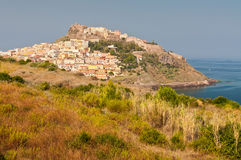 Miasteczko przybrzeżne Castelsardo Fotografia Royalty Free