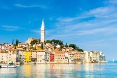 Miasteczko przybrzeżne Rovinj, Istria, Chorwacja. Obraz Stock