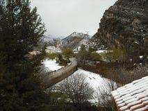Miasteczko Teruel snowed Fotografia Stock