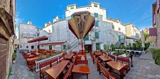 Miasteczko Trogir kwadrata panorama Fotografia Royalty Free