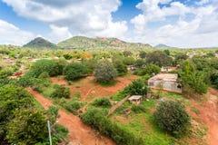 Miasteczko Voi panorama, Kenja Fotografia Royalty Free