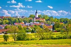 Miasteczko Vrbovec architektura i krajobraz Zdjęcie Stock