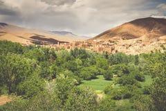 Miasteczko w Dades dolinie, Maroko Obraz Stock