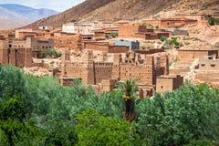 Miasteczko w Dades dolinie, Maroko Obrazy Stock