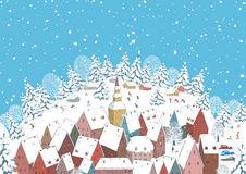 miasteczko zima Zdjęcia Stock
