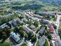 Free MIASTKO, POLAND - 05 AUGUST 2018 - Aerial View On Miastko City Panorama, North Part Royalty Free Stock Photo - 125853035