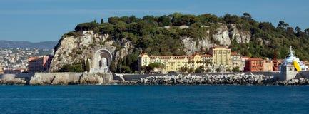 Miasto Ładny - architektura wzdłuż deptaka des Anglais od Med Obrazy Stock
