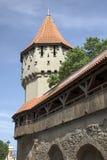 Miasto ściana, Sibiu Zdjęcie Stock