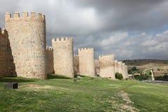 Miasto ściany Avila, Hiszpania Obrazy Stock